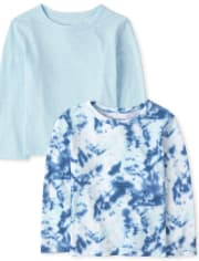 Baby And Toddler Boys Tie Dye Top 2-Pack