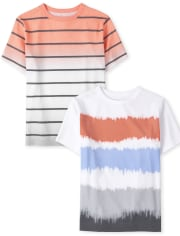 Boys Striped Top 2-Pack