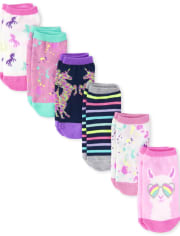 Girls Unicorn Ankle Socks 6-Pack