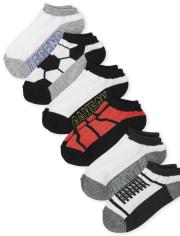 Boys Sport Ankle Socks 6-Pack