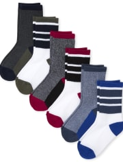 Boys Cushioned Crew Socks 6-Pack