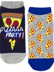 Boys Dino Pizza Ankle Socks 6-Pack