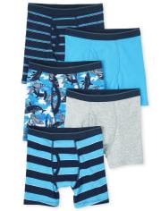 Boys Shark Boxer Briefs 5-Pack