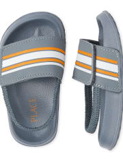 Toddler Boys Striped Slides