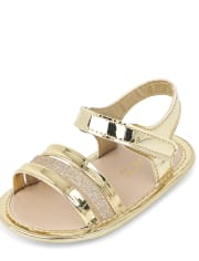 Baby Girls Metallic Glitter Sandals