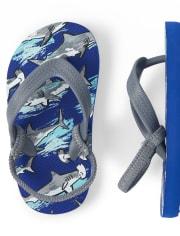 Toddler Boys Shark Flip Flops