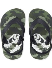 Toddler Boys Dino Camo Flip Flops
