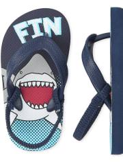Toddler Boys Shark Flip Flips