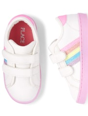 Toddler Girls Glitter Rainbow Low Top Sneakers