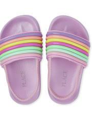 Toddler Girls Rainbow Striped Slides