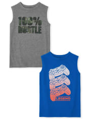 Boys Graphic Muscle Tank Top 2-Pack