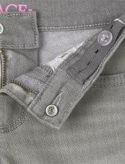 Girls Roll Cuff Denim Skimmer Shorts