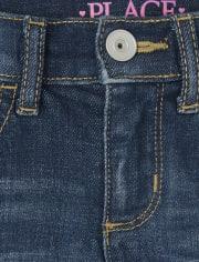 Girls Distressed Denim Skimmer Shorts