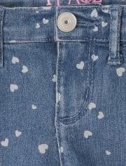 Girls Heart Denim Skimmer Shorts