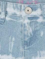 Girls Tie Dye Denim Skimmer Shorts