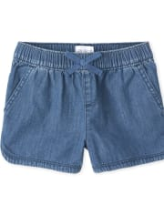 Girls Denim Pull On Shorts