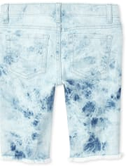 Girls Tie Dye Denim Skimmer Shorts