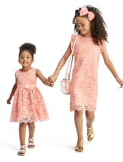 Toddler Girls Lace Fit And Flare Dress