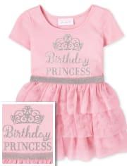 Baby And Toddler Girls Glitter Birthday Princess Tutu Dress