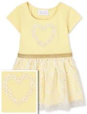 Baby And Toddler Girls Glitter Heart Tutu Dress