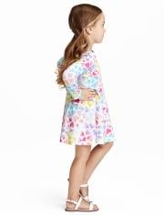 Vestido skater con corazones para bebés y niñas pequeñas