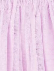 Vestido tutú de princesa de cumpleaños con purpurina para bebés y niñas pequeñas