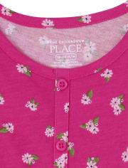 Toddler Girls Floral Peplum 2-Piece Set