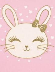 Toddler Girls Glitter Bunny 2-Piece Set