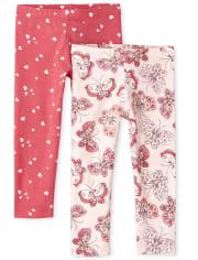 Toddler Girls Print Leggings 2-Pack