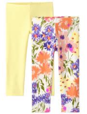 Toddler Girls Floral Leggings 2-Pack