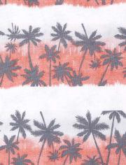 Pack de 2 camisetas sin mangas con rayas de palmeras para bebés y niños pequeños
