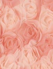 Vestido de punto a tejido de flores en 3D para niñas