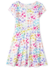 Girls Print Skater Dress