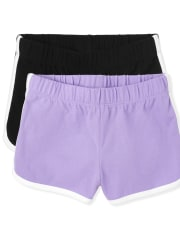 Girls Dolphin Shorts 2-Pack