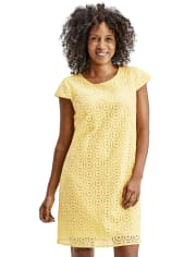 Womens Mommy And Me Daisy Lace Matching Shift Dress