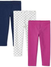 Toddler Girls Leggings 3-Pack
