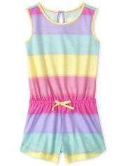 Baby And Toddler Girls Rainbow Ombre Romper