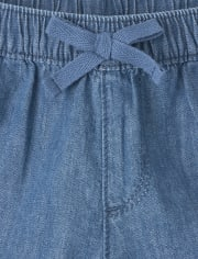 Baby And Toddler Girls Denim Pull On Shorts