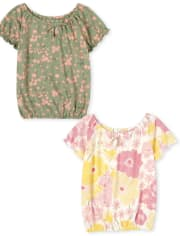 Girls Floral Top 2-Pack