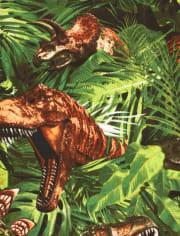 Boys Dino Jungle Snug Fit Cotton Pajamas
