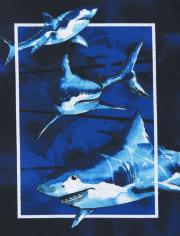 Boys Dino Shark Pajamas 2-Pack