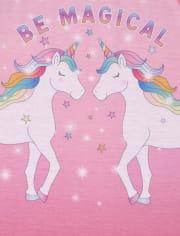 Girls Magical Unicorn Pajamas