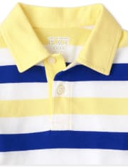 Baby And Toddler Boys Striped Jersey Polo