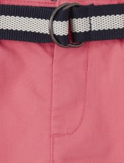 Baby And Toddler Boys Belted Chino Shorts