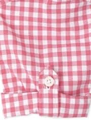 Camisa de popelina con botones a cuadros vichy para bebés y niños pequeños
