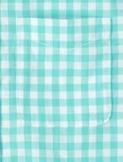 Camisa de popelina con botones a cuadros vichy Dad And Me para bebés y niños pequeños