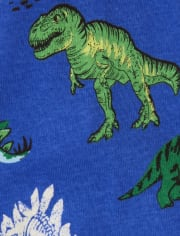 Baby And Toddler Boys Glow Dino Snug Fit Cotton Pajamas