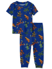Baby And Toddler Boys Frog Snug Fit Cotton Pajamas
