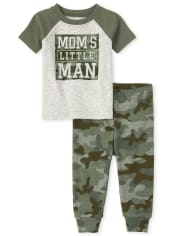 Baby And Toddler Boys Camo Mom Snug Fit Cotton Pajamas