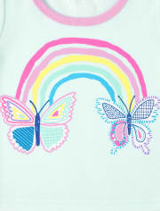 Baby And Toddler Girls Butterfly Snug Fit Cotton Pajamas